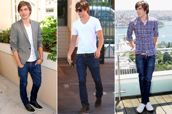 A new trend of fashion style with skinny jeans