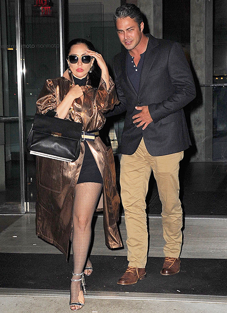 Lady Gaga Flashes Cleavage 2