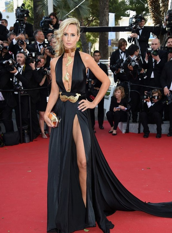 Lady Victoria Hervey flashes her Knickers at Cannes red carpet 1